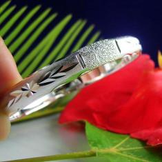 Bratara argint 925 cu model stelar; marime reglabila
