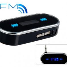 Modulator FM auto - Modulator FM, Mobil, MP3, Baterie Reincarcabila, iPhone, iPod, Tableta, PC