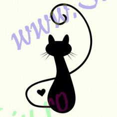 Pisica_Tatuaj De Perete_Sticker Decorativ_Cod:WALL-235-Dim: 25 cm. x 20.8 cm. - Tapet