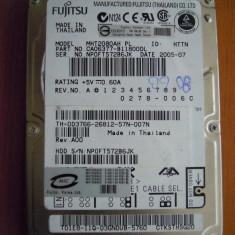 Hard Disk Laptop 80 GB Fujitsu Siemens MHT2080AH IDE PERFECT! - HDD laptop Fujitsu, 41-80 GB, Rotatii: 5400, 8 MB