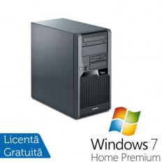 Sisteme desktop fara monitor - Fujitsu P5731, Intel Dual Core E5300 2.6Ghz, 2Gb DDR3, 160Gb SATA, DVD-RW + Windows 7 Home Premium
