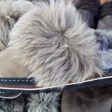 Papuci blana naturala - Papuci dama, Marime: Alta, Culoare: Nespecificat