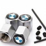 Set capacele ventil metal model pentru BMW cu antifurt seria 1 3 5 - Capace Roti