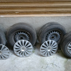 Set roti cauciucuri vara R15 5 x 112 VW Passat - Anvelope vara Continental, Latime: 195, Inaltime: 65