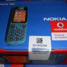 Telefon Nokia, Gri, Nu se aplica, Vodafone, Single SIM, Single core - NOKIA 100, NOU, ORIGINAL.SIGILAT, codat vodaf sau orange, trimit si prin POSTA
