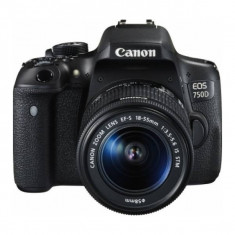 Aparat Foto DSLR Canon EOS 750D Kit 18-55mm f3.5-5.6 IS STM Black