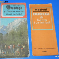 Harta Turistica - 2 HARTI TURISTICE MUNTII BUCEGI SI IMPREJURIMI. MASIVUL BUCEGI