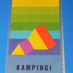 Harta Turistica - ROMANIA RUMUNIA KAMPINGI - HARTA CAMPINGURILOR 1978 (00657