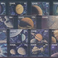 Timbre straine - Cosmos planete meteoriti - serie nestampilata MNH - Ciskei 1991 20 Euro