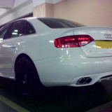 Prelungire spoiler difuzor bara spate Audi A4 B8 8K Sline S Line RS4 S4 ver1, A4 (8K2, B8) - [2007 - 2013]