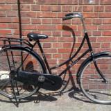 Bicicleta de oras, 22 inch, 28 inch, Numar viteze: 1, Otel, Negru - Bicicleta clasica Olandeza Oma Fiets