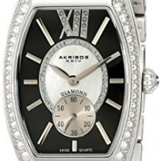 Akribos XXIV Women's AKR470BK Diamond Swiss | 100% original, import SUA, 10 zile lucratoare af22508 - Ceas dama