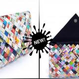Geanta ECO / Plic multicolor din hartie / reviste (31 x 21 cm) - Geanta handmade