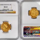 ticuzz - Romania 20 Lei 1890 - moneda de aur - NGC MS62