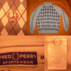 Bluza FRED PERRY carouri original ultras casual sport trening - M - negru - Bluza barbati, Marime: M