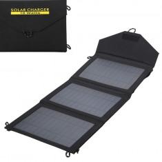 Panouri solare - Panou Solar 10W, Pliabil / Portabil, Incarcator Acumulatori, Power Bank, Telefon
