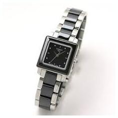 Ceas de dama Tissot Cera Ceramic T064.310.22.051.00 negru, Elegant, Quartz, Inox, Diametru carcasa: 26, Ceramica