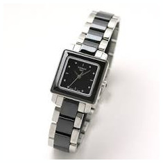 Ceas de dama Tissot Cera Ceramic T064.310.22.051.00 negru - Ceas dama Tissot, Elegant, Quartz, Inox, Ceramica, Analog