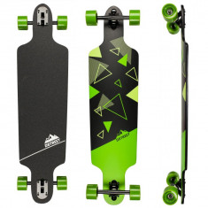 "Longboard D STREET Polygon Tri Green Drop Through 39""/99cm - Skateboard"