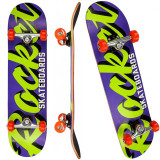 "Skateboard ROCKET Pro Script 31x7, 75"" purple/green"