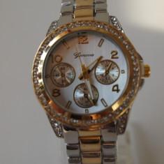 Ceas de Dama Geneva - GENEVA ceasuri AURIU +ARGINTIU dama + CUTIE CADOU ceas gen guess CE135