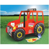 Patut In Forma De Tractor - Plastiko - Rosu