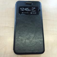 Husa Huawei Ascend Y6 S-VIEW Black, Negru, Piele Ecologica, Toc, Cu clapeta