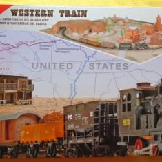 Trenulet electric Western cu diorama - MEHANO T109 - Trenulet de jucarie