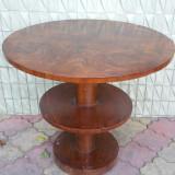 Masa cu 3 blaturi - Art Deco - perioada interbelica - 1930 - Mobilier