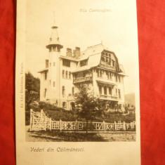 Ilustrata tip UPU clasica - Calimanesti -Vila Cantacuzino - Carte Postala Oltenia pana la 1904, Necirculata, Fotografie