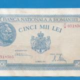 5000 lei 1945 20 Martie 1