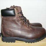 Ghete Timberland 6 Inch Burnished Leather Boots Mens Boys Brown 37587 nr.41 - Bocanci barbati Timberland, Piele naturala