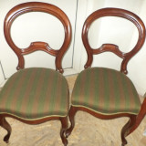 Mobilier - Set de 2 superbe scaune Rococo antice perioada anilor 1900