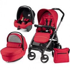 Carucior 3 in 1 Book Plus 51 Black Sportivo SL Red - Carucior copii 2 in 1 Peg Perego