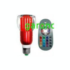 Bec/neon - Bec cu led RGB, 3W, dulie E27, 220V - cu telecomanda/6662