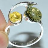Inel argint - INEL CU AMBRA PRESATA(7)-Ag 925-Lichidare stoc