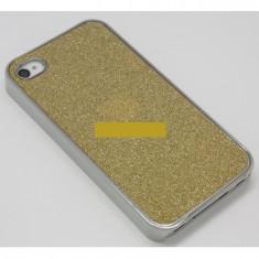 Husa bumper iPhone 4 4S gold sparks OFHi4S003, Plastic, Carcasa