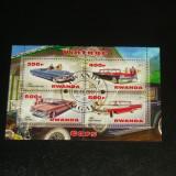 Colita stampilata - TEHNIC - Masini vechi - Pontiac, Cadillac - RWANDA - 2013  -  2+1 gratis toate produsele la pret fix - RBK7787