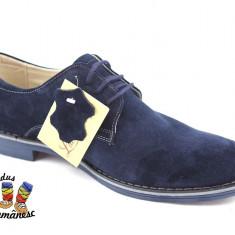 Pantofi barbati Suave, Piele naturala - Pantofi PIELE intoarsa eleganti/casual made in Romania 39 40 41 42 43 44 45