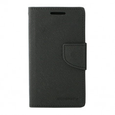 Husa Atlas, Negru, Textil, Toc - Toc My-Fancy Samsung Galaxy S2 I9100 Negru