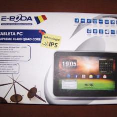 Tableta e-Boda Supreme XL400 Quad Core, 10.1 inches, 16 Gb, Wi-Fi