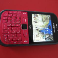 SAMSUNG S3350 Chat - tastatura qwerty Wi-Fi camera foto 2MP - Telefon Samsung, Roz, <1GB, Neblocat, Single SIM, Fara procesor