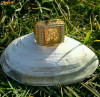 Inel placate cu aur - INEL BARBATI PLACAT CU AUR ARABIC STYLE, CONSIDERAT AMULETA, ADUS USA, PRET ACCESIBIL.