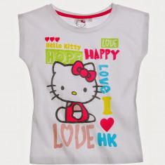 Tricou maneca scurta 4-10 ani - Hello Kitty - art 107992 alb, Marime: Alta