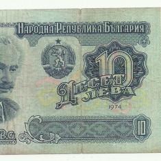 bancnota europa, An: 1974 - BULGARIA 10 LEVA 1974 [7] P-96a