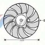 Ventilator, radiator OPEL VECTRA C 2.2 16V - AVA QUALITY COOLING OL7540