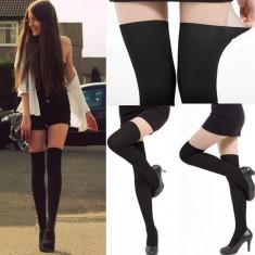 Dres sexy imitatie de ciorapi pana la genunchi portjartier fals in doua nuante, Marime: Marime universala, Culoare: Din imagine