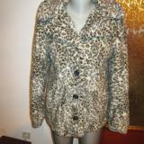 Palton/blanita dama animal print Zara Basic -marimea S