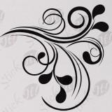 Floral_Tatuaj De Perete_Sticker Decorativ_WALL-129-Dimensiune: 35 cm. X 35 cm. - Orice culoare, Orice dimensiune
