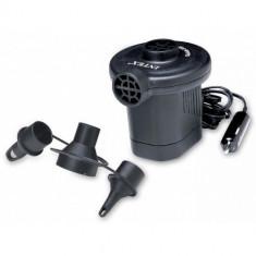 Pompa Electrica Universala Auto Intex Pentru Saltele Corpuri Gonflabile Barci, Negru